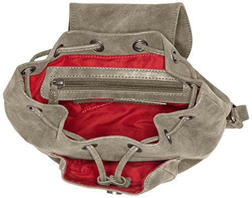 Fritzi aus Preußen Damen Maddy Rucksackhandtaschen, 30x22x10 cm Grau (Pebble-Vi)
