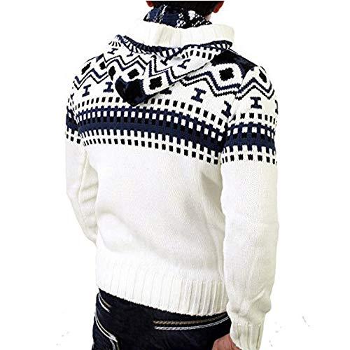 Imagen de deelin los hombres de otoño y el invierno de manga larga casual encapuchado jersey de punto chaqueta de cardigan con capucha suéter de punto de manga larga alternativa
