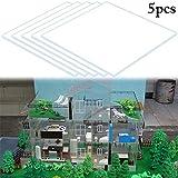 JUSTDOLIFE 5 Pezzi Foglio Acrilico Creativo Foglio del Modello di Edificio Materiale del Modello di Casa