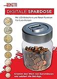 Digitale Spardose Modell: Dose - Sparschwein Zählwerk Münzenzähler Geld Sparen Dose LCD elektronisch