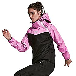 HOTSUIT Sauna Suit Running Sweat Suit Weight Loss for Women Slimming Clothes (Pink,Large)