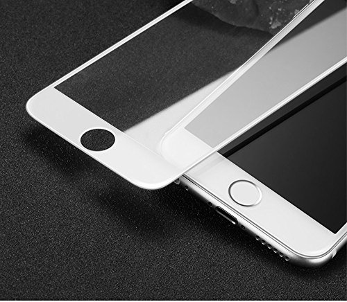 iPhone 6s Full Screen Protector, iPhone 6 Glass Screen Protector, Moon mood® Edge-to-Edge Crystal Clear Screen Protector Vetro Temperato Film 0.33mm Thin / 9H Hardness / 3D Round Edge Glass Full Cover White (Full-Screen)