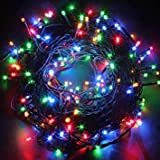 #10: MIRADH Outdoor LED Fairy String Lights withMulti Mode Remote for Diwali, Christmas, Party,Decoration - Multicolor (30M)