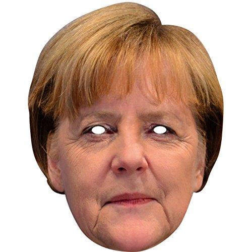 Politiker Kostüm - Pappmaske Bundeskanzlerin Counterfeit Faschingsmaske Karnevalsmaske Angie Celebrity Gesichtsmaske Politiker Maske Angela Merkel Maske