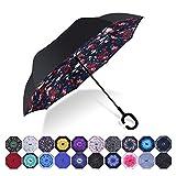 HISEASUN Parapluie Inversé Innovant Anti-UV Double Couche...