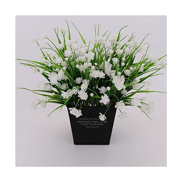 Ukallaite – Ramo de Flores Artificiales para decoración del hogar y 1 Ramo de Camelia Artificial, decoración para el…
