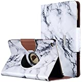 iPad Mini 4 Case, ULAK 360 Degree Rotating Smart Synthetic Leather Stand Case Cover for Apple iPad Mini 4 (2015 Release) with Auto Sleep/Wake Function (Artistic marble pattern)