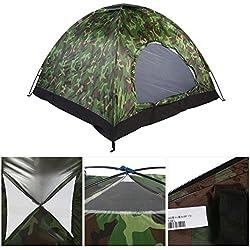 3-4 Man Camping Dome Tent Outdoor UV Protección de Camuflaje Impermeable 3-4 Personas Tienda de campaña para Acampar en Familia