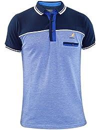 Männer Kangol Designer Polo Kragen Premium Qualität Brust Tasche T Shirt Top