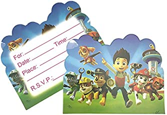 Greeting cards buy greeting cards online at best prices in india partymane boys and girls birthday party paw patrol invitations cards with envelopes pack of 10 m4hsunfo