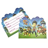 #9: Partymane Boy's and Girl's Birthday Party Paw Patrol Invitations Cards with Envelopes - Pack of 10