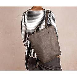 Grau Leder Rucksack, Anti-Diebstahl Rucksack, handgefertigte Rucksack, Leder Rucksack Reißverschluss