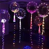18 Zoll LED Ballon Dekoratives Licht Geburtstag Hochzeitsfeier Leuchten Sie Transparente Ballons Mit Buntem String Licht Für Weihnachten Neujahrsfest Partei Dekoration