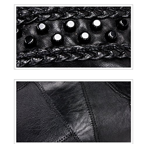 LAIDAYE Moda Selvatici Rivetto Spalla Portatile Messenger Bag Black