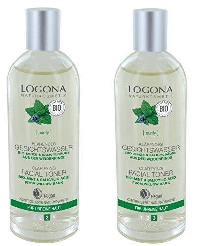 Logona Klärendes Gesichtswasser, bei unreiner Haut, wirkt antibakteriell, klärt das Hautbild, 2 x 125ml