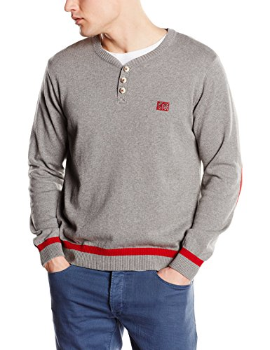 The Indian Face 14-010-03, Sweat à Col Pointu Homme Light Grey Melange