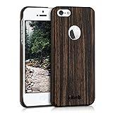 kalibri Apple iPhone SE / 5 / 5S Hülle - Handy Holz Schutzhülle - Slim Cover Case Handyhülle für Apple iPhone SE / 5 / 5S
