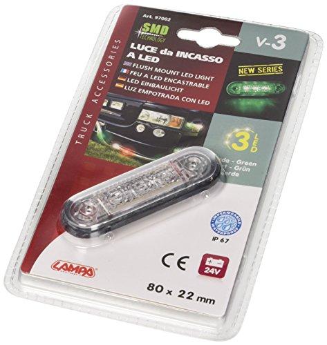 Lampa 97002 lumière encastrable à LED 24 V, Vert