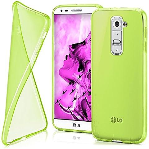 Funda protectora OneFlow para funda LG G2 Mini Carcasa silicona TPU 0,7 mm | Accesorios cubierta protección móvil | Funda móvil paragolpes bolso traslúcida transparente en Verde