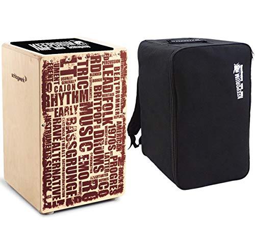 Schlagwerk CP 130 X-One Styles Cajon + keepdrum Rucksack-Tasche + Sitzpad