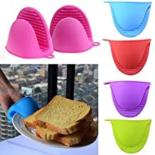 Silicona agarradera para horno Mini guante de baño (1par) (2pc), cocina, pinch grips–resistente al calor