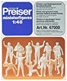 Preiser 67000 1/48 Scale Military Figures Unpainted Pilots & Ground Crew Modern US/German Air Forces O Scale Military Model Figure