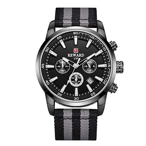 Smartwatches,Camouflage Multifunktions Nachtlicht Uhr Wasserdichte Sportuhr Trend Nylon Uhr Gürtel Outdoor Wandern F -