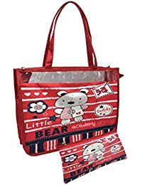 Shopaholic 2pc Set Shoulder Shopping Bag & Pouch For Kids/teenagers-Teddy Bear Academy