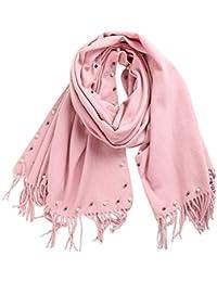 DAMILY Hiver Écharpe Chaud Solide Couleur Cachemire Feel Foulard Châle  Élégant Wraps Pour femme b112b4a9aef