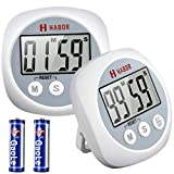 Magnetic Kitchen Timer Digital, [All in One] Big Button, Larger LCD Display, Count