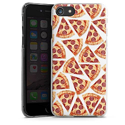 Apple iPhone 5c Silikon Hülle Case Schutzhülle Pizza Fast Food Stücke Hard Case transparent