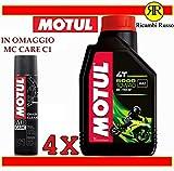 Olio motore moto Motul 5000 10w40 4T litri 4 + OMAGGIO MC Care C1 Chain Clean
