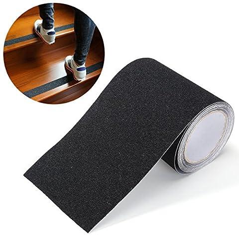 BESTOMZ 5Mx15CM Anti Slip Tape Stickers for Stairs Decking Strips,Black