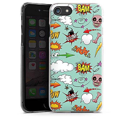 Apple iPhone X Silikon Hülle Case Schutzhülle Totenkopf Comic Bombe Sticker Style Hard Case transparent