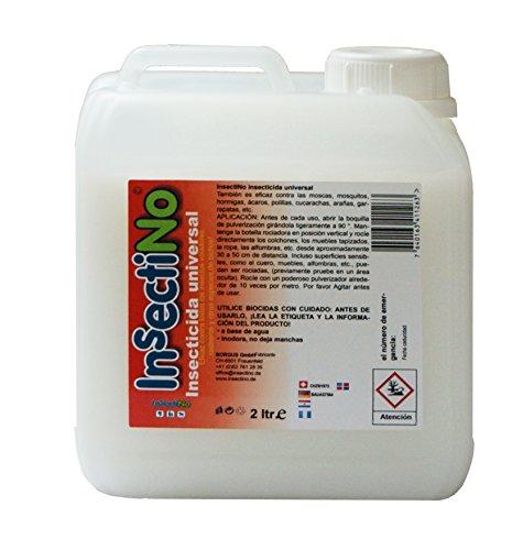 INSECTINO Insecticida Universal - 1 x bidón 2 LTR - contra Las Moscas, Mosquitos, Hormigas, ácaros, polillas, cucarachas, arañas, garrapatas