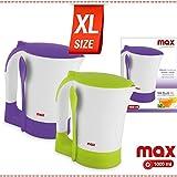 Bakaji Bollitore Scalda Latte Bollilatte Tè Thea Elettrico 1000W Capacità 1000 ML Portatile Max Casa, Mr. Bollì Nuovo Formato XL da 1 Litro