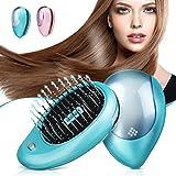 Luckyfine Tragbare elektrische ionische Haarbürste, Mini Haarbürste Kammmassage Home Reise für Frauen, die Haarbürste modellieren