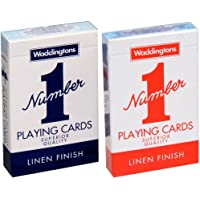 Waddingtons No. 1 Playing Cards Twin Pack (Red/ Blue)