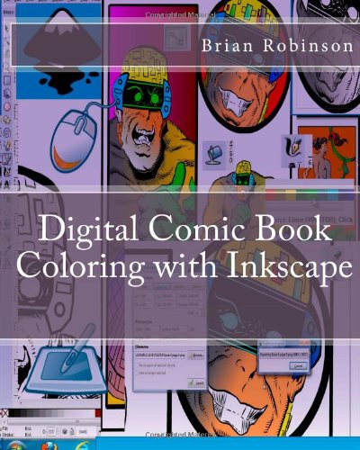 Digital Comic Book Coloring with Inkscape