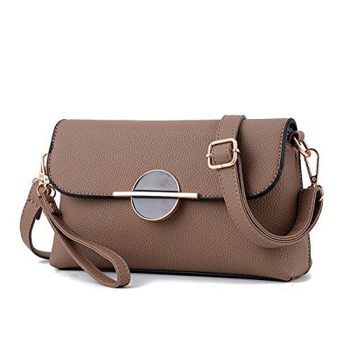 Damen Mini Messenger Tasche Umhängetasche Brown