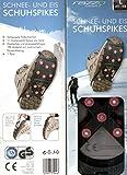 HY SPORTS Schnee- und Eis Schuhspikes - Größe XL = 44-46 (Schuhspikes, Schneespikes, Eisspikes)