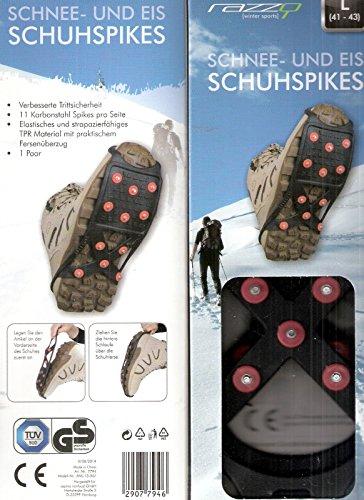 Preisvergleich Produktbild HY SPORTS Schnee- und Eis Schuhspikes - Größe XL = 44-46 (Schuhspikes,  Schneespikes,  Eisspikes)
