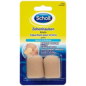 Scholl Zehenhaube klein, Schutz für die Zehen, 2er Pack(2 x 2 Stück)