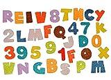 Unbekannt 35 tlg. Set Sticker / Aufkleber Filz - Alphabet Zahlen Buchstaben - für Schulanfang Deko Schultüte Schulbeginn Schule ABC