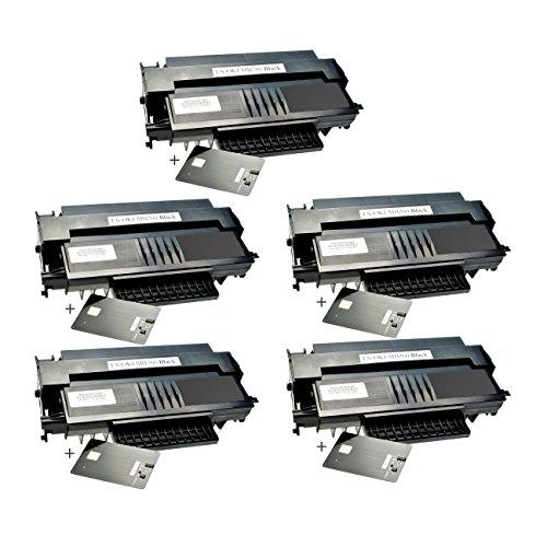 5 Toner für Oki MB260 01240001 Black - Schwarz je 5.500 Seiten, kompatibel zu 01240001