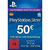 PlayStation Store Guthaben-Aufstockung 50 EUR  [PS4, PS3, PS Vita PSN Code - deutsches Konto]