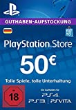 PSN Card-Aufstockung | 50 EUR | PS4, PS3, PS Vita Playstation Network Download Code - deutsches Konto -