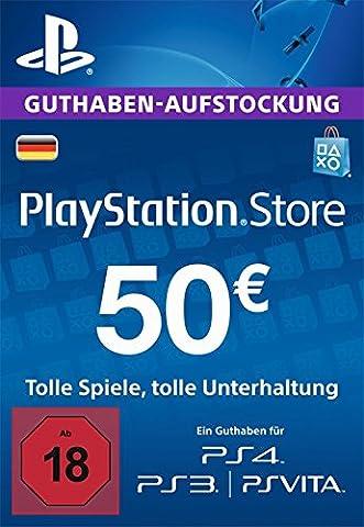 PlayStation Store Guthaben-Aufstockung | 50 EUR | PS4, PS3, PS Vita PSN Download Code - deutsches (Gutschein Amazone)