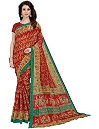 Navya Polly Silk Printed Sarees With Blouse Piece (nav388_Multi-Coloured_Free Size)