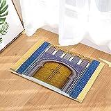 Kwboo Alfombras De Baño Marroquíes, Puertas Antiguas De Marruecos, Alfombrillas Antideslizantes para Pisos De Felpudo, Puertas De Entrada Interiores, Alfombrillas De Baño, Accesorios De Baño